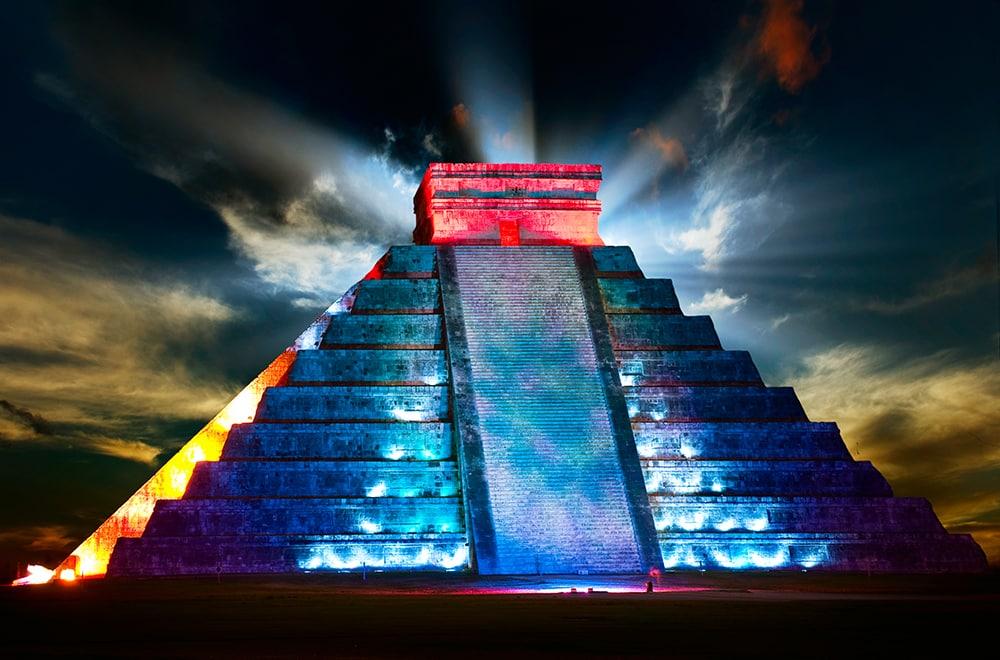 Chichen Itza's Lightshow
